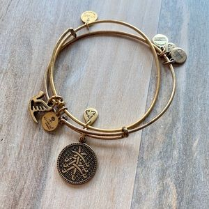 Alex and Ani Gold Bracelets Bird and Seven Swords